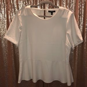 White Blouse with Peplum